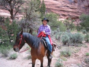 Horse back riding in Canyon de Chelly
