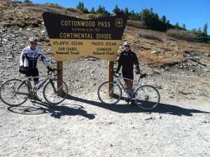 Road biking on Cottonwood Pass with Bolder Adventure Travel