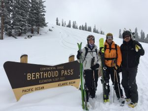 Awesome backcountry powder skiing on Berthoud Pass with the Hallowell boys!
