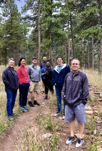 Corporate team building hike with Bolder Adventure Travel